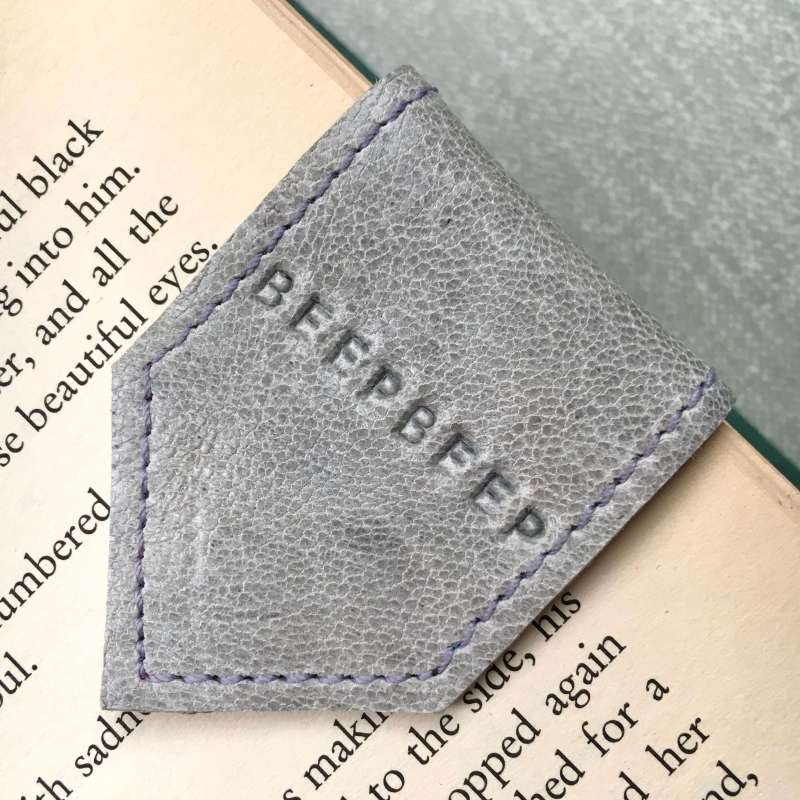 personalised_grey_leather_bookmarks_by_law