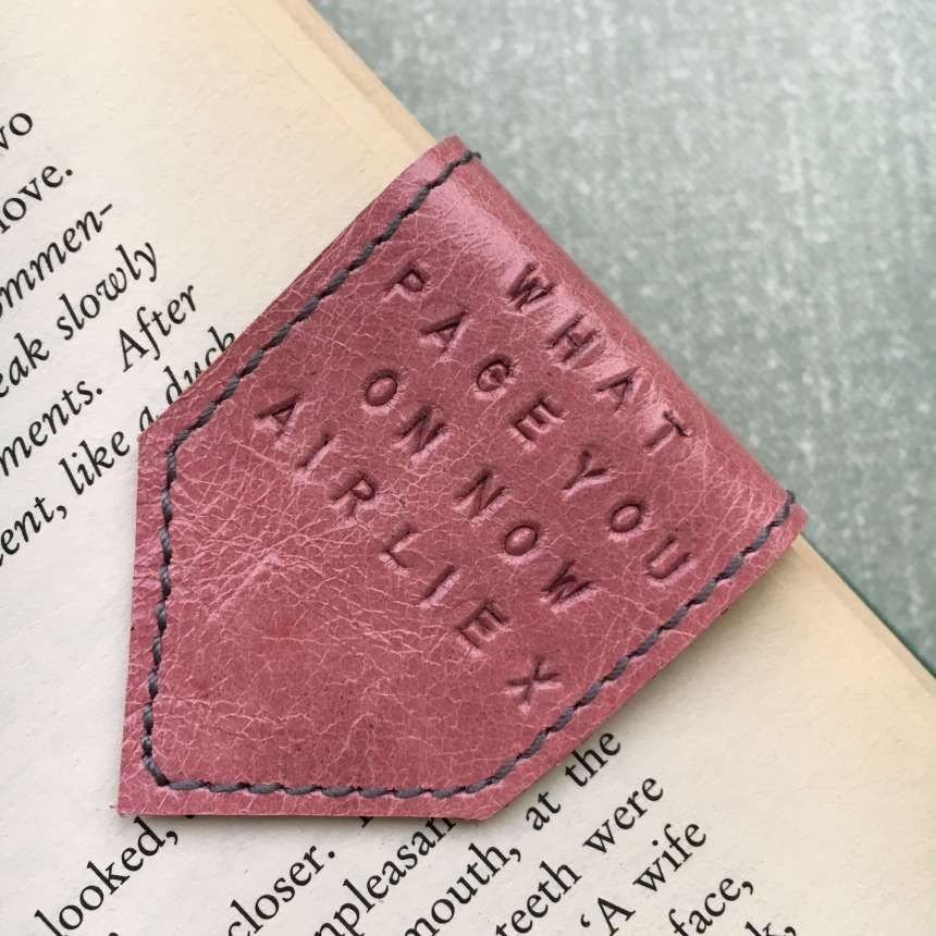 personalised_pink_leather_bookmark_by_Law