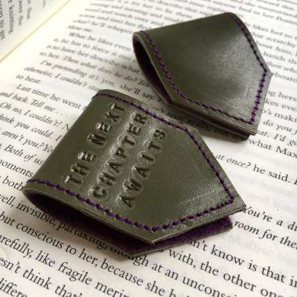 Green_Leather_bookmarks_by_Law