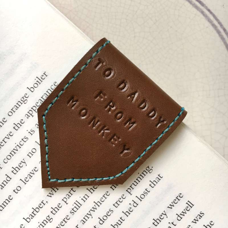 tan_leather_ bookmark_fathers_day_daddy