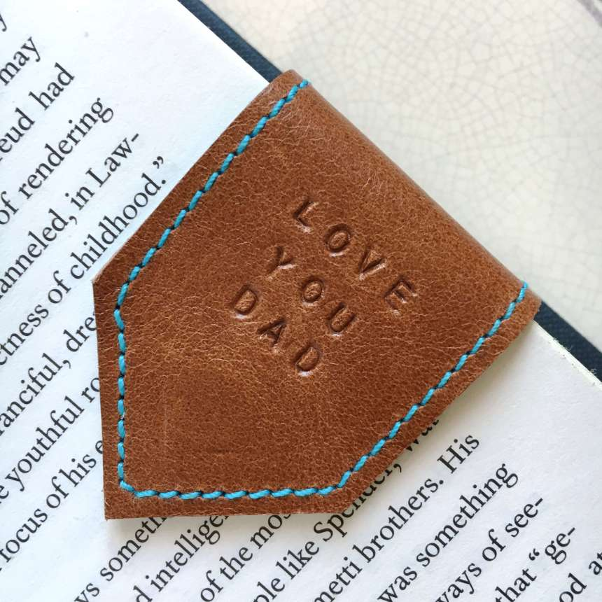 leather_bookmark_fathers_day_dad